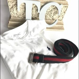 Bundle Of Polo By Ralph Lauren T-Shirt and Belt